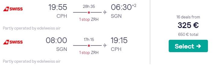 cheap flights copenhagen vietnam