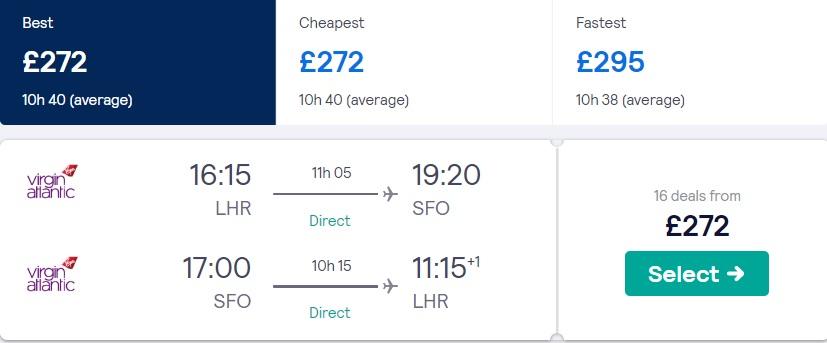 cheap flights london san francisco