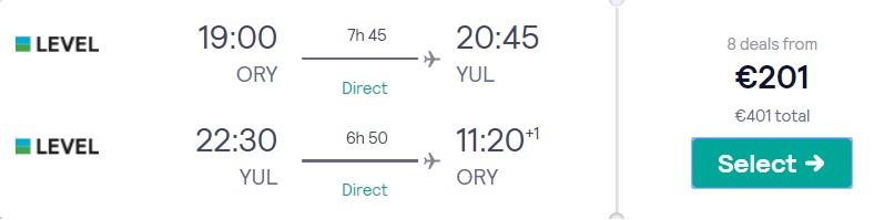 cheap flights paris montreal canada