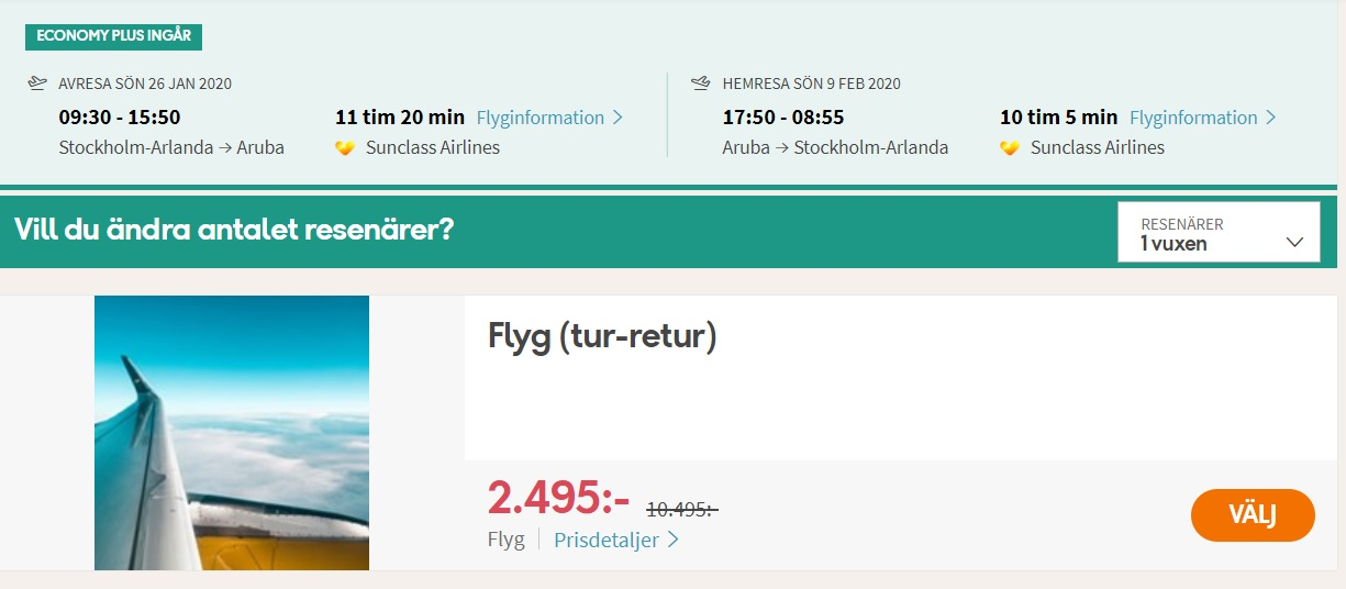 WOW! Direct flight from Stockholm to ARUBA for €236 - TravelFree