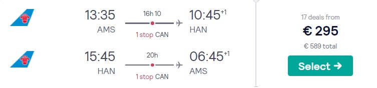 cheap flights amsterdam hanoi vietnam