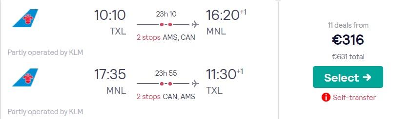 cheap flights berlin philippines