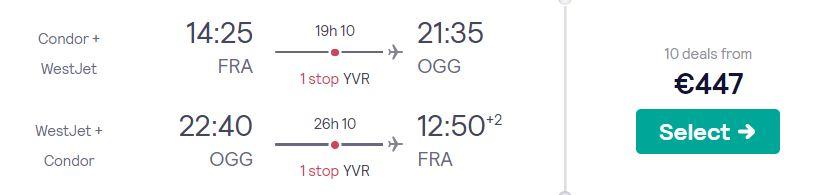 cheap flights frankfurt hawaii