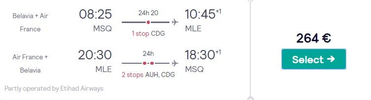 cheap flights minsk maldives