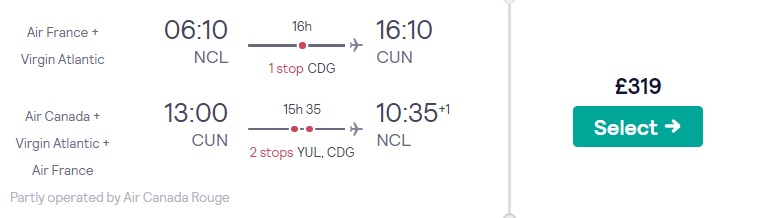 cheap flights newcastle cancun